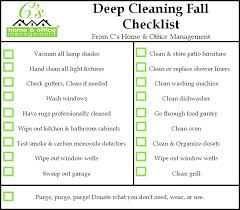 Fall House Cleaning Checklist Cs Home Office Management