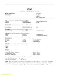 Acting Resume Examples Custom Free Acting Resume Template Download Simple Beginners Resume