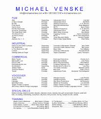 Actors Resume Actors Resume Template Resume Template And Cover Letter 97