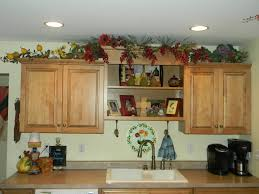 61 compulsory seemly decorating above kitchen cabinets tuscan style luxury lights greenery top of cabinet large