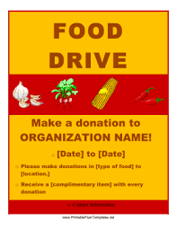 Food Drive Flyers Templates Food Drive Flyer