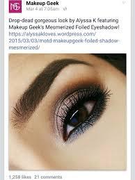 makeupgeek cosmetics mesmerized free mug foiled shadows motd brown eyes makeup bger brows anastasia beverly