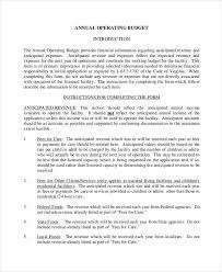 9 Annual Budget Templates - Free Sample, Example Format Download ...
