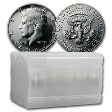 1964 Kennedy Half Dollar Accented Hair Value Chart 1964 Kennedy Half Dollar 20 Coin Roll Proof