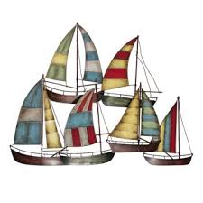 >sailboat metal wall art