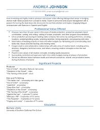 Narrative Resume Samples Sample Production 5 Paragraph