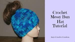 Bun Hat Crochet Pattern Classy Crochet Messy Bun Hat Tutorial Crochet Jewel YouTube