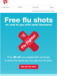 Learn about common flu myths. Walgreens Free Flu Shots With Most Insurance Stop Into Your Local Store And Get Your Flu Shot Today Milled