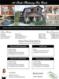 mortgage flyer template listing flyer templates texas home group