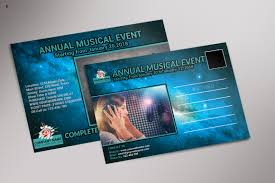 Musical Event Post Card Template By Ayme Designs | Thehungryjpeg.com