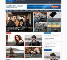 Wordpress Template Newspaper 30 Best Free News Wordpress Themes 2019