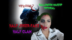 liquid latex you makeup tutorial half joker face glam female