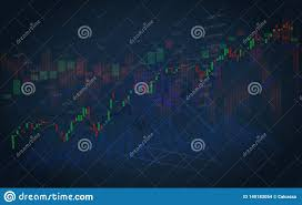 Abstract Of Investing And Stock Market Concept Gain And