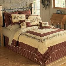 pinecone border quilt collection