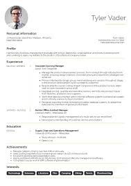 Business-management graduate cv example