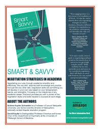 Smart Savvy Negotiation Strategies In Academia Indisputably