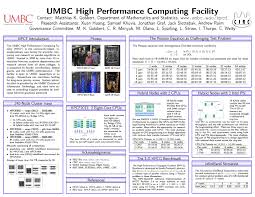Science Research Posters Research Posters Hpcf High Performance Computing Facility Umbc