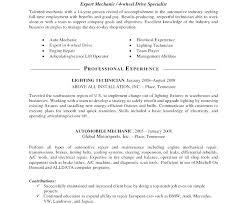 Auto Mechanic Resume Templates Diesel Mechanic Resume Example Auto Mechanic Resume Template