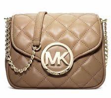 Michael Kors Fulton Quilted | eBay & MICHAEL MICHAEL KORS Fulton Dark Khaki Quilted Leather Crossbody Bag Adamdwight.com