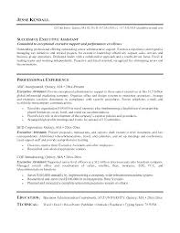 Executive Assistant Resume Template Gyomorgyuru Gorgeous Resume For Executive Assistant