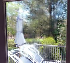 condensation inside the patio door the seal has failed on this double paned unit