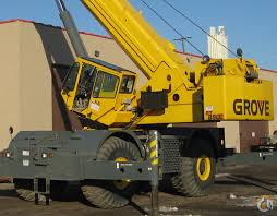 Sold 2009 Grove Rt 890e 90 Ton Rough Terrain Crane Crane