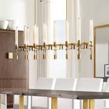 mid century modern dining room lighting 12 light glass led chandelier 43 30 inch long black