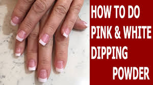how to do pink and white dipping powder sns nails dipping powder lisa nail beauty you