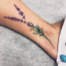 Tetování Květiny Noha Tetování Tattoo