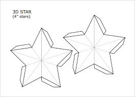 3D Star Christmas Snowflake Template PDF Format christmas snowflake templates 15 free printable sample, example on christmas newsletter template free pdf