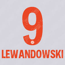 Polyester type of brand logo: Lewandowski 9 Official Bayern Munich 2020 21 Away Name And Numbering