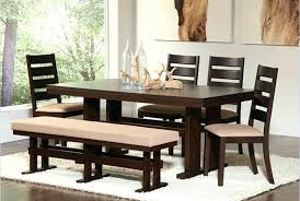 dining room sets big and small with bench seating regard to tables decor 1 wood table dark wood dining set table with bench