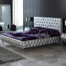 Silver Bedroom Silver Bedroom Furniture With Black Wall And Purple Touch For