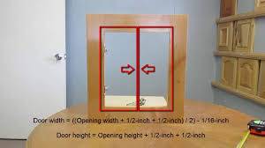 How to measure cabinet openings for new cabinet doors - YouTube