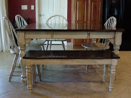 Remodelaholic Kitchen Table Refinished With Distressed Look - Distressed dining room table and chairs