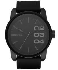 diesel men s black silicone strap watch 46mm dz1446 watches diesel men s black silicone strap watch 46mm dz1446