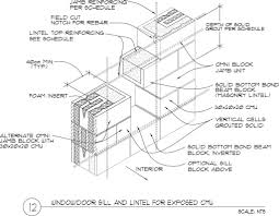Concrete Block Lintel Design Masonry Lintel Windows Doors Grout Beams