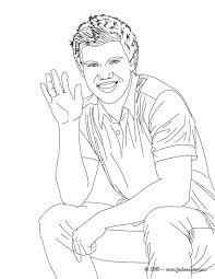 Coloriages Taylor Lautner Cravate Imprimer Fr Hellokids Com