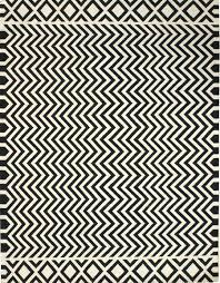 flatwoven rugs dhurries gallery zigzag black white dhurrie rug hand
