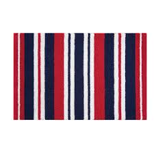 red white blue stripes rug