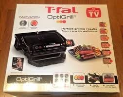 t fal gc702 optigrill black indoor electric grill w removable plates new in box