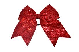Cheer Bow Designs Sequin Sparkle Cheer Bow Red