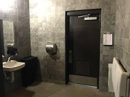 public restrooms interior wall