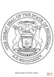 Small Picture Michigan State Seal coloring page Free Printable Coloring Pages