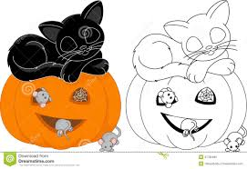 Small Picture Cat halloween coloring pages