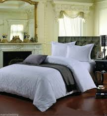 damask white super king 400 thread count jacquard cotton duvet cover set