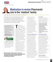 Pharmacist Consultant Integration Of A Consultant Pharmacist Into A General Practice