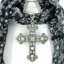 scarf slide with large cross scarf jewelry scarf pendant mckenzie creek jewelry