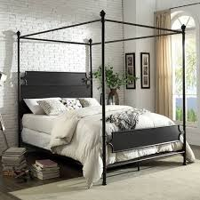 Madison Park California King Size Canopy Bed Bronze