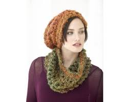 Lion Brand Crochet Patterns Fascinating Quick Cushy Hat And Cowl Set Pattern Crochet Lion Brand Yarn